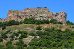 Fortress. Arches in the Nimrod fortress in Israel Stock Photography
