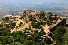 Fortress. Arches in the Nimrod fortress in Israel Stock Photos