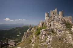 The fortress. View of the Rocca di Calascio Royalty Free Stock Image