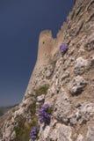 The fortress. View of the Rocca di Calascio Stock Photo