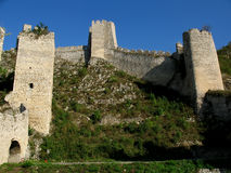 Fortress. Golubac fortress in Danube gorge, serbia Royalty Free Stock Image