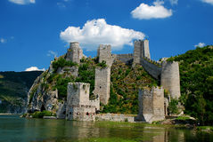 Fortress. Golubac on the river Danube Royalty Free Stock Photography