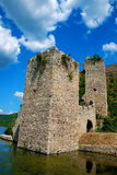 Fortress. Golubac on the river Danube Stock Image