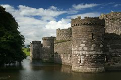 Fortress. A castle with a moat Stock Image