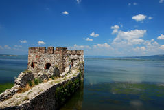 Fortress. Golubac fortress on the river Danube Stock Photography