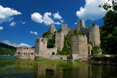 Fortress. Golubac fortress on the river Danube Stock Photo