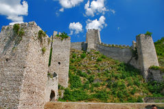 Fortress. Golubac fortress on the river Danube Royalty Free Stock Photography