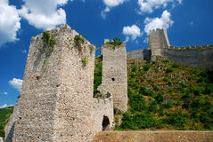 Fortress. Golubac fortress on Danube river in Serbia Royalty Free Stock Images