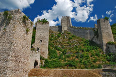 Fortress. Golubac fortress on Danube river in Serbia Stock Images