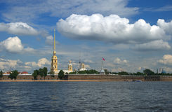 The Fortress. Citadel in the heart of St. Petersburg Royalty Free Stock Photography