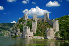 Fortress. Ancient fortress on the river Danube Stock Images