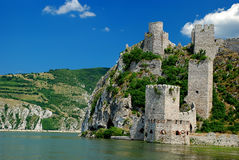 Fortress. Old fortress Golubac at Danube river in Serbia Stock Image