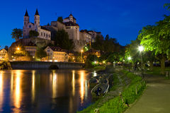 Fortress Aarburg. The landmark of Aarburg on the banks of the Aare Stock Photography