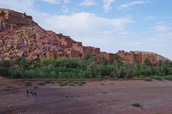 The fortress of Ait Ben Haddou, in Morocco. Royalty Free Stock Photography
