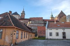 fortress of Akershus - a castle in Oslo royalty free stock photos