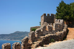 Fortress in Alanya Royalty Free Stock Photography