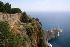 Fortress Alanya, Turkey. Beach, sea Mediterranean Stock Photo