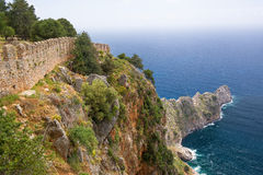 The fortress of Alanya in Turkey Royalty Free Stock Image
