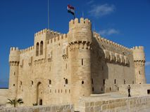 Fortress in Alexandria. Fortress qaitbey in Alexandria. egypt Stock Photos