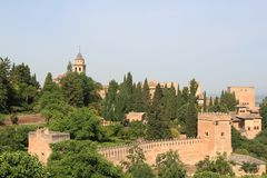 Fortress Alhambra Royalty Free Stock Image