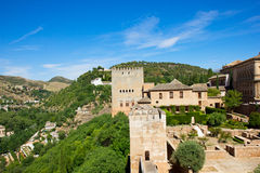 Fortress of alhambra royalty free stock image