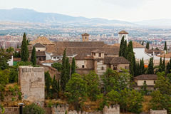 Fortress of Alhambra, Granada, Spain royalty free stock photo