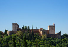Fortress of Alhambra, Spain Royalty Free Stock Photos