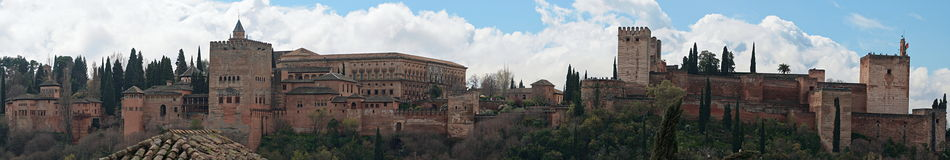 The Fortress of Alhambra Royalty Free Stock Image