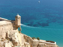 Fortress of Alicante Stock Photography
