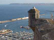 Fortress in Alicante Stock Images