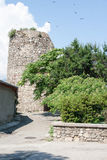 The fortress Aluston in the city of Alushta. In clear summer day Royalty Free Stock Photo