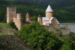 Fortress of Ananuri Stock Image