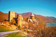 Fortress Ananuri in Georgia Royalty Free Stock Photos