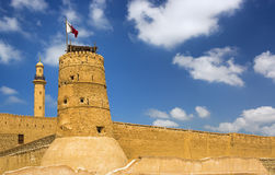 Fortress and Arabic museum in Deira,Dubai city,United Arab Emirates Stock Image