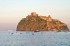 Fortress of Aragons,Ischia,Italy. Ruins of fortress of the Aragons,Ischia,Gulf of Naples,Italy Stock Image