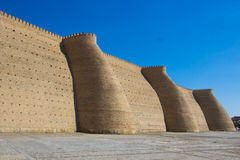 Fortress Ark and complex Poi Kolon, Bukhara, Uzbekistan Stock Photos