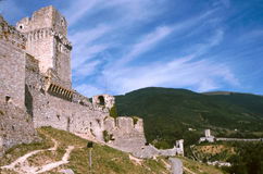 Fortress of Assisi Royalty Free Stock Photo