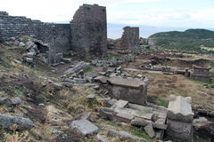 Fortress in Assos, Turkey Royalty Free Stock Photo