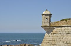 Fortress in the Atlantic sea Royalty Free Stock Images