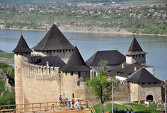 The fortress on the banks of the Dniester Stock Images