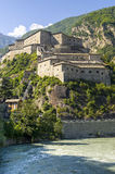 Fortress of Bard. Bard (Aosta, Italy) - The ancient fortress Royalty Free Stock Image