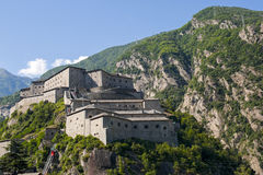 Fortress of Bard (Aosta, Italy). Bard (Aosta, Italy) - The ancient fortress Stock Photography