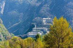 Fortress of Bard - Aosta Valley - Italy Royalty Free Stock Photo