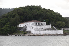Fortress of barra grande in guaruja Stock Images