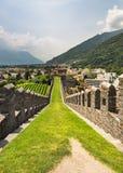 Fortress in Bellinzona Stock Images