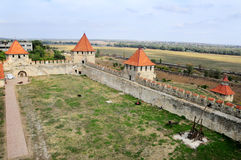 Fortress in Bender, Transistria, view from above. Transnistria is a self governing territory not recognised by the United Nations Stock Photography