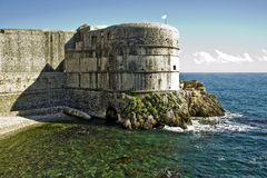 Fortress Bokar by the green and blue sea Royalty Free Stock Photography