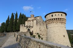 Fortress of Brescia Royalty Free Stock Images