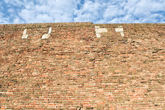 Fortress brick wall and sky Stock Photo