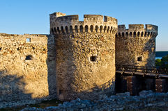 Fortress bridge and towers Royalty Free Stock Photo